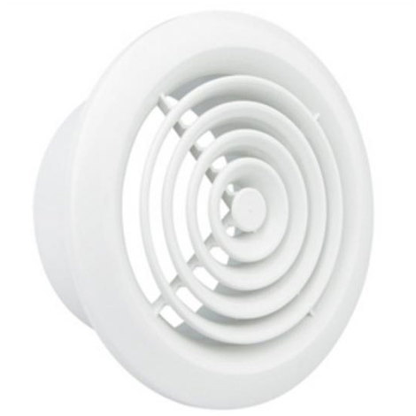 "Manrose 2100 Internal Circular Wall Grille 4"" (100mm) - White or Chrome"