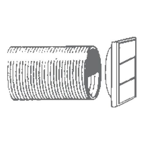 "Manrose 230mm/9"" Wall Vent Kit For XFS230 Fans - 1292"
