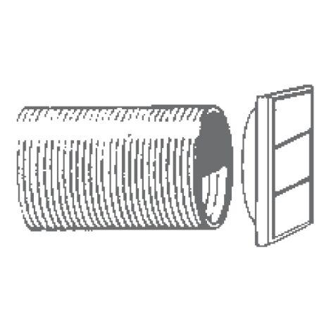 """Manrose 300mm/12"""" Aluminium Wall Liner For Wf300 - 1270"""