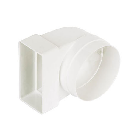 Manrose 40300 Low Profile 90 Elbow Connector 110 x 54mm 100mm 4 inch