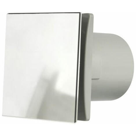 Manrose DECO150TC 150mm (6inch.) Bathroom Extractror Fan with Integral Timer & Aluminium Front Cover