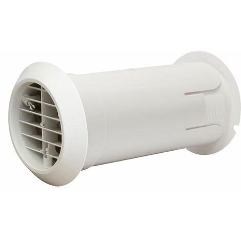 Manrose Extractor Fan Ducting Ventilation Internal Fit Wall Kit 100mm White