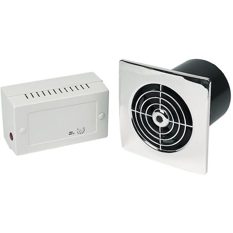 """Manrose LP100SLVC Lo Profile 4"""" Extractor Fan Slimline Range with Low Voltage in Chrome"""