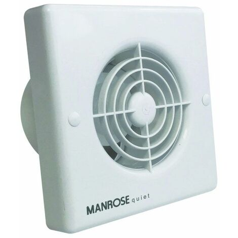 Manrose QF100H 4.8W Quiet Axial Bathroom Extractor Fan with Humidity Control