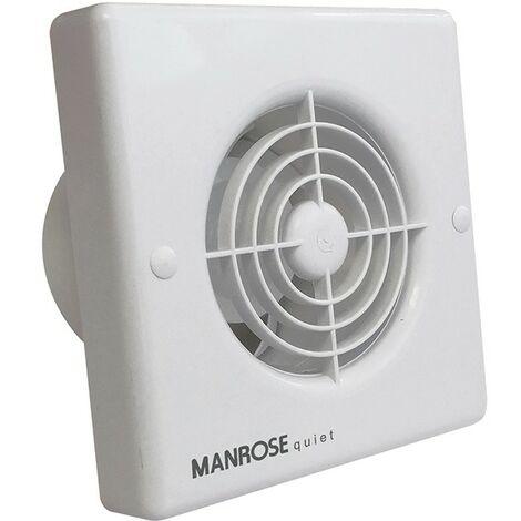 Manrose QF100S 4.8W Quiet Axial Bathroom Extractor Fan