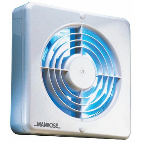 Manrose XF150BHP 150mm (6inch.) Axial Extractor Fan with Humidity Control & Pullcord