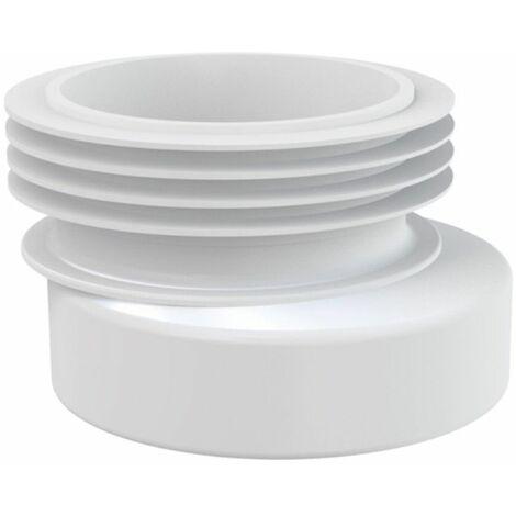 Manschette Rosette für WC- Anschluss Ablaufgarnitur Anschluss DN 110 Ausführung außermittig
