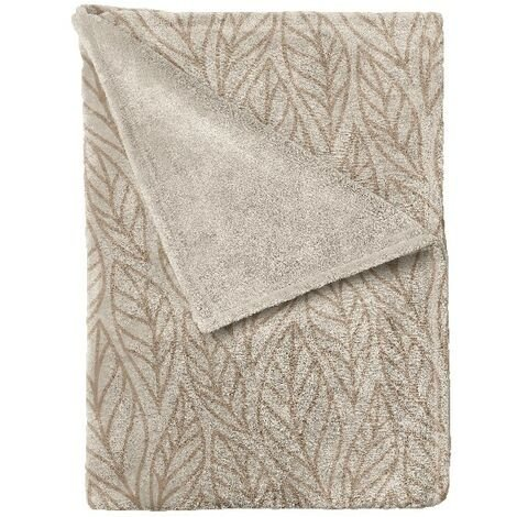 Manta Autumn - Plaid - para el sofa, la cama, la habitacion - Beige, Marron en Microfibra, 120 x 160 cm