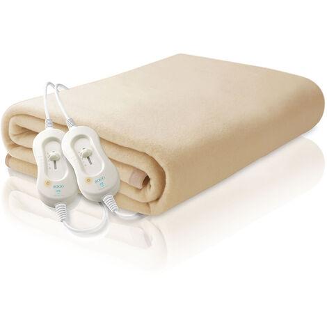Manta eléctrica calienta camas matrimonio 160 x 140 cm, 60W X2 - Indicador LED