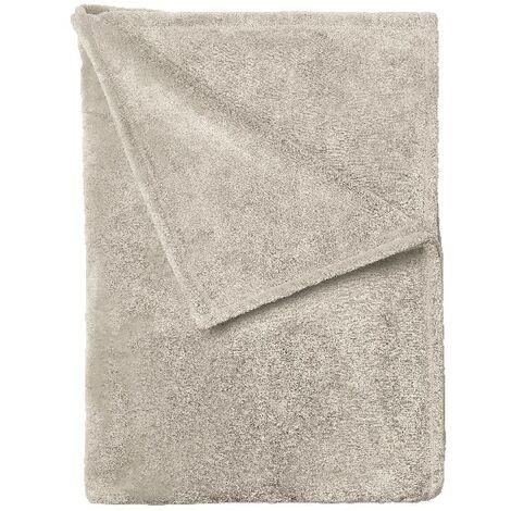Manta Pergamena - Plaid - para el sofa, la cama, la habitacion - Beige en Microfibra, 120 x 160 cm