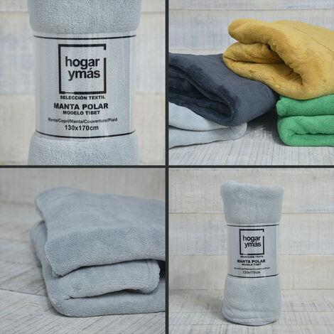 Manta polar Super Soft. Modelo Tíbet 170 X 130 cm. de colores - Hogar y más Color - Gris