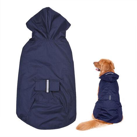 Manteau De Pluie Reflechissant Pour Chien, Avec Trou Pour Laisse, 6Xl