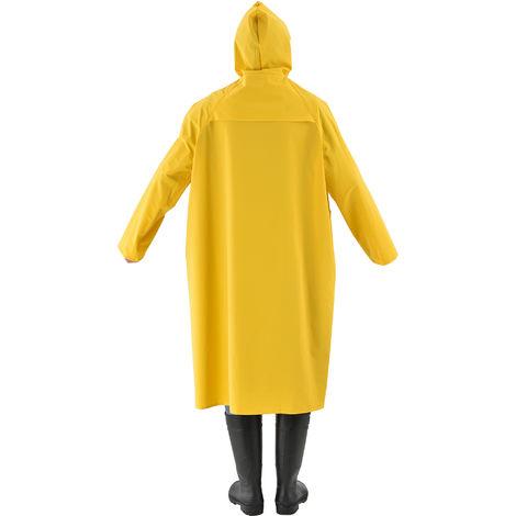 Manteau de pluie Vêtement de pluie Imperméable Avec zip et boutons cachés Enduction PVC et Polyester Taille XXL
