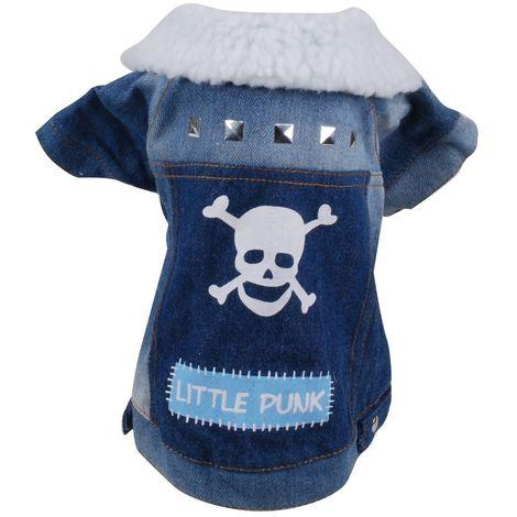 Manteau pour chien Little Punk - Taille S - Bleu