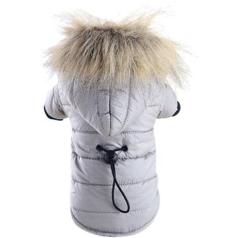 Manteau Pour Chien, Vetements Chauds D'Hiver, Rouge, L