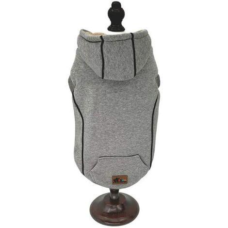 Manteau pour chiens. Sweat-shirt gris d'hiver int