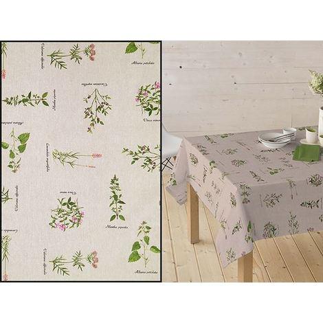 Mantel Resinado Estampado plantas medicinales BOTANIC.