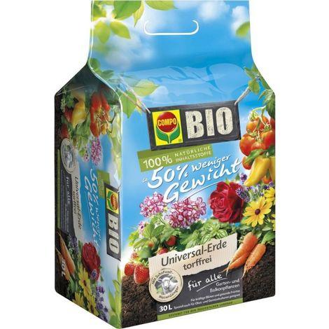 Mantillo universal orgánico, sin turba 30L COMPO SANA (por 72)