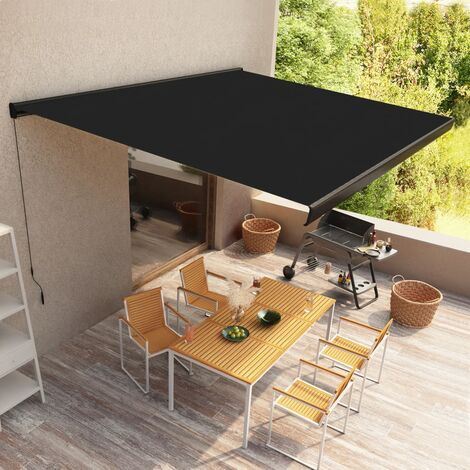Manual Cassette Awning 500x300 cm Anthracite