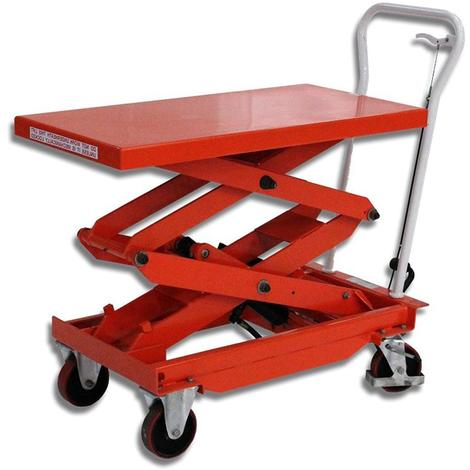 Manual lifting table - double scissors - 500 kg