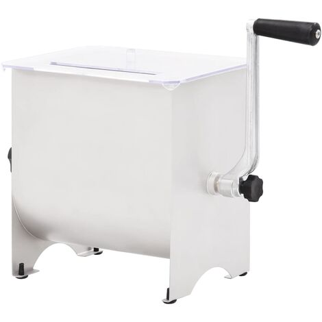 Manual Meat Mixer with Lid Silver 20 L Stainless Steel