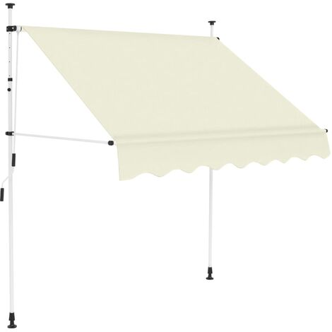 Manual Retractable Awning 150 cm Cream