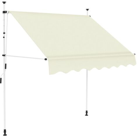 Manual Retractable Awning 200 cm Cream