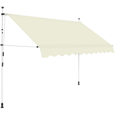 Manual Retractable Awning 300 cm Cream