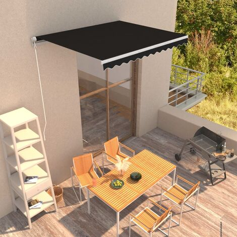 Manual Retractable Awning 300x250 cm Anthracite