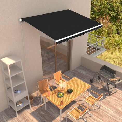 Manual Retractable Awning 350x250 cm Anthracite