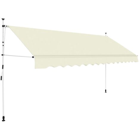 Manual Retractable Awning 400 cm Cream