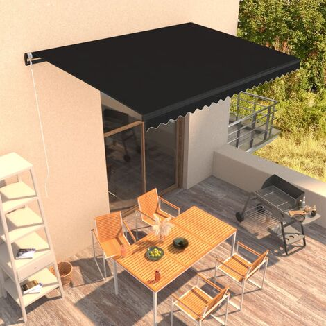 Manual Retractable Awning 450x300 cm Anthracite
