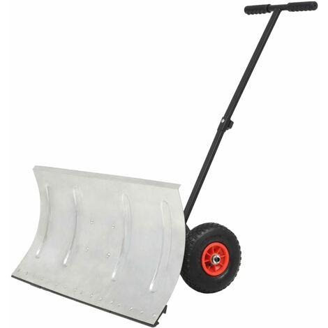 Manual Snowplough with Wheels 100x44 cm
