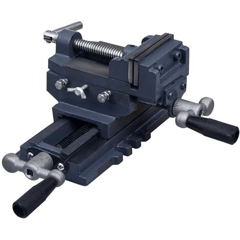 Manually Operated Cross Slide Drill Press Vice 70 mm