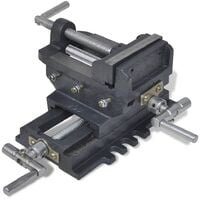Manually Operated Cross Slide Drill Press Vice