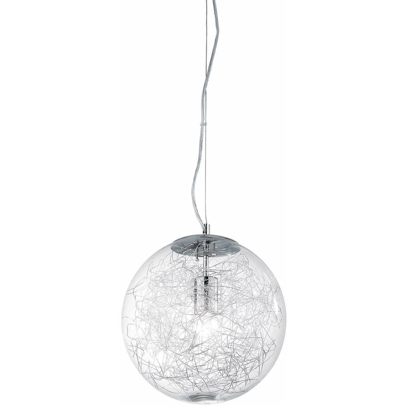 01-ideal Lux - MAPA MAX Aluminium Pendelleuchte 1 Glühbirne
