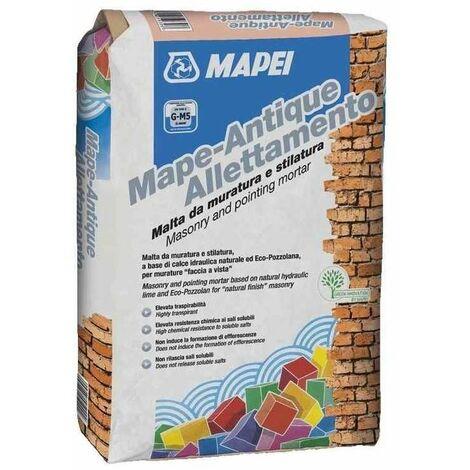 Mape Antique Allettamento Mapei malta da muratura color tufo 25kg