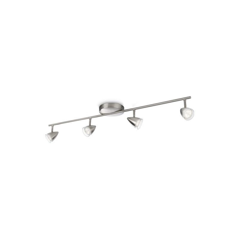 Maple - Barra spot LED nickel 4 luci