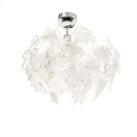 Maple - ceiling light with pretty leaf decoration