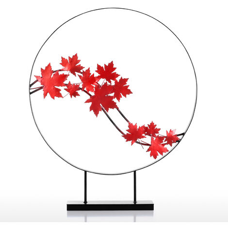 Maple Leaf Iron Sculpture, Abstract Sculpture, Home Decor