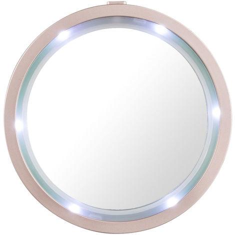Maquillage miroir avec bord LED pour la salle de bain