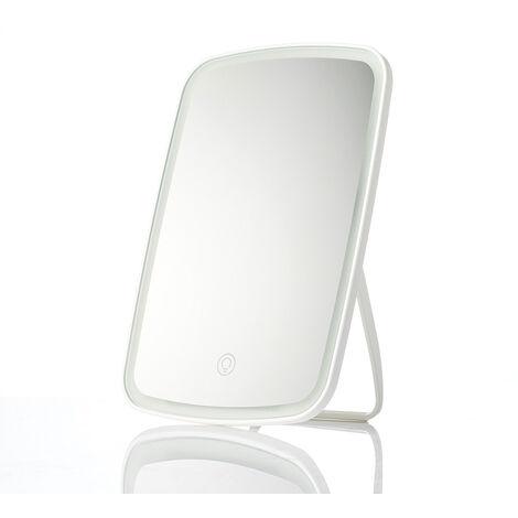 Maquillaje Xiaomi Mijia LED Espejo con interruptor de la luz del tacto de control natural de maquillaje portatil ligera llevada dormitorio escritorio espejo 1200mAh, blanca