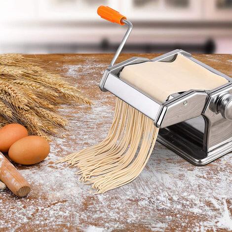 Máquina de Acero Inoxidable para Hacer Pasta Máquina de Cortar Pasta Fresca Máquina para Hacer Fideos Frescos Tallarines Lasañas Espaguetis