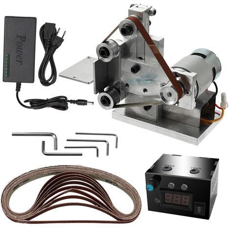 Maquina de cinta abrasiva, maquina desnuda tipo 10 + fuente de alimentacion + regulador de velocidad