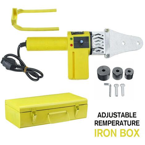 Máquina de herramientas de soldadura de tubería de calentador eléctrico automático de 800 W adecuada para tubo de PP PB PPR PE (caja de hierro - temperatura ajustable)