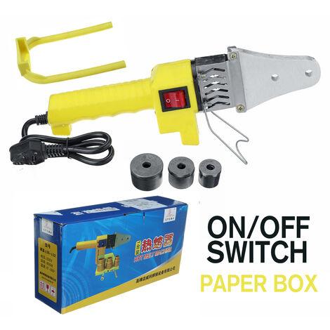 Máquina de herramientas de soldadura de tubería de calentador eléctrico automático de 800 W apta para tubo PB PPR PE PP (caja de papel con interruptor de encendido / apagado)