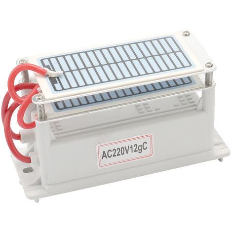 Maquina de ozono generador de ceramica, 12g/h, ozonizador purificador de agua y aire