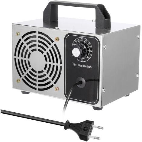 Maquina de ozono, ventilador purificador de filtro de aire Ozonizador portatil, 28g/h