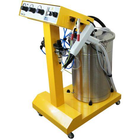 Máquina de Pintura en Polvo Electrostática 45 Litros con Pistola Pulverizadora