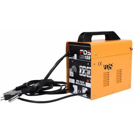Máquina de Soldadura FLUX Gas Inerte MIG 130 Electrodos Soldador (Amarillo)